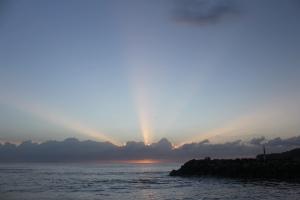 Sunrise over the breakwater