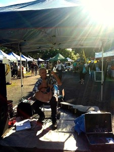 acustic guitar at the market 2