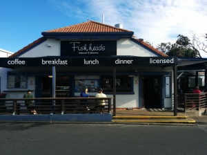 Fishheads Cafe, just a stones throw away from the surf club