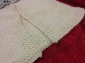 love the garter stitch bands