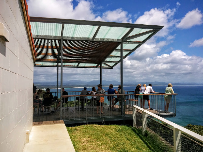 deck overlooks the bay