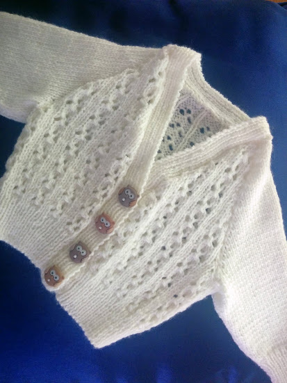 front of cardigan